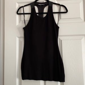 Gorgeous Bailey 44 leather racer back tank